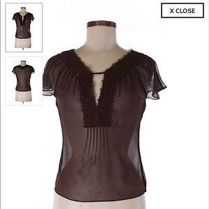 Short sleeve silk top, BCBGMAXAZRIA